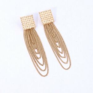 18kt Gold Chain Dangle-Style Earrings